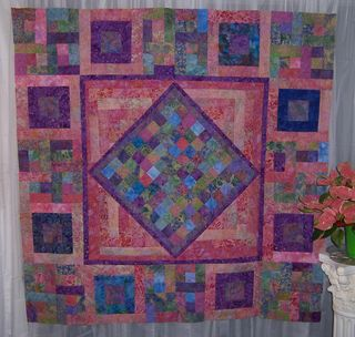 Batik Quilt before the border was added