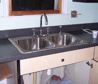 Sink install